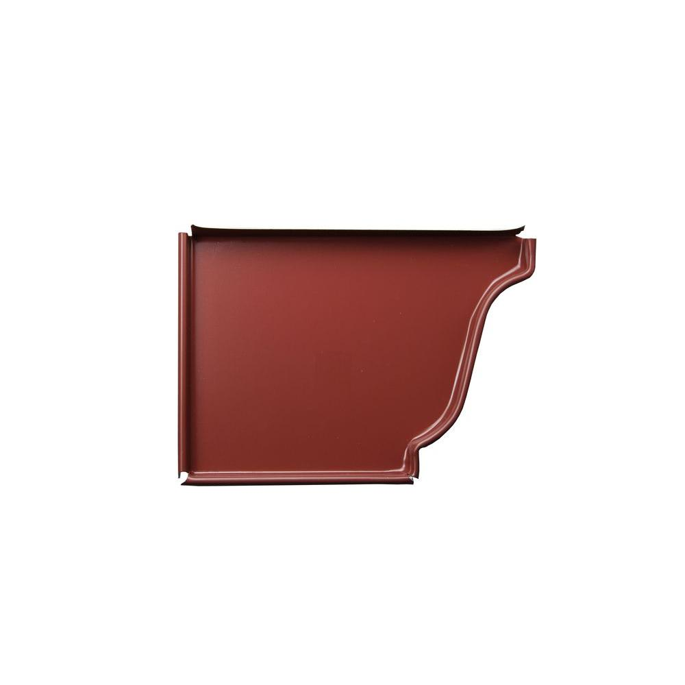 5 in. Scotch Red Aluminum Left End Cap