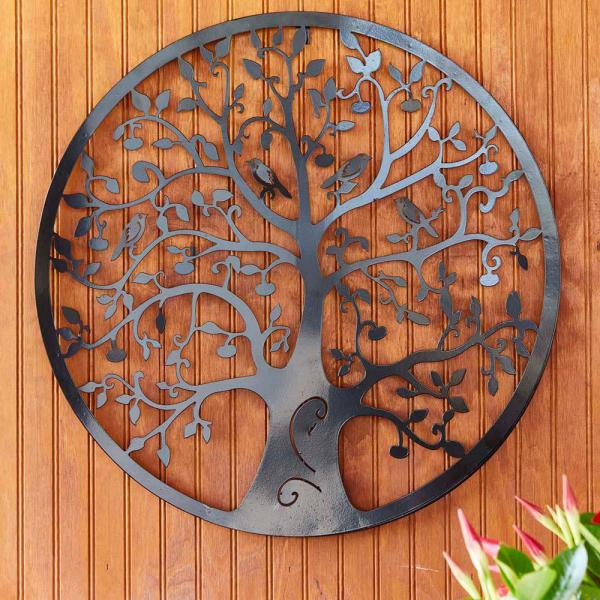 Southern Patio 24 In Dia Tree Of Life Metal Wall Outdoor Decor Wdc 054603 The Home Depot