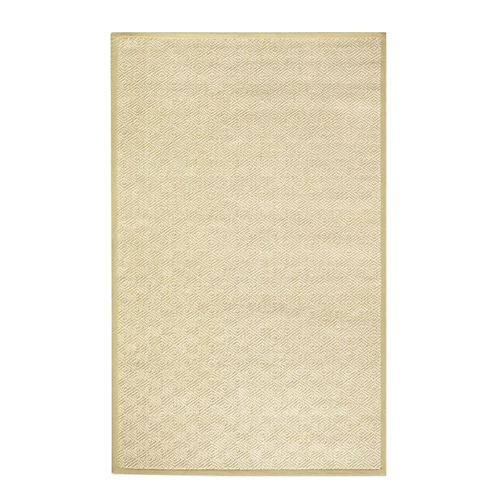 Home Decorators Collection Diamond Jute Natural 8 Ft X 11 Ft Area Rug 0350725840 The Home Depot