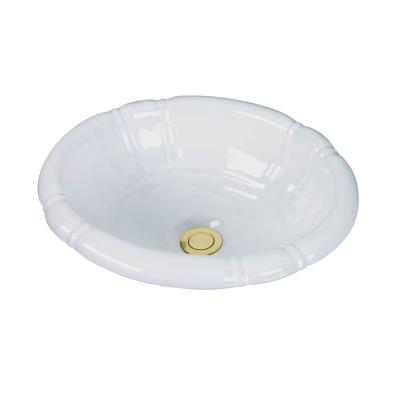 Sienna Drop-In Bathroom Sink in White