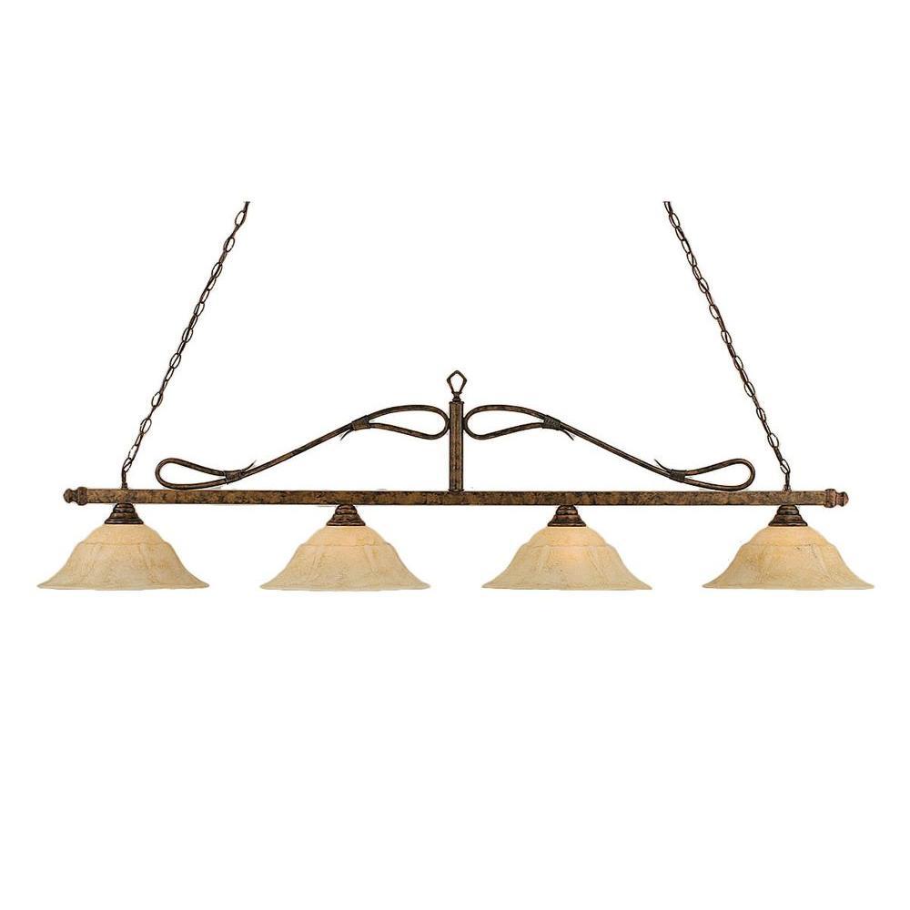 Filament Design Concord 4-Light Bronze Incandescent Ceiling Island Pendant