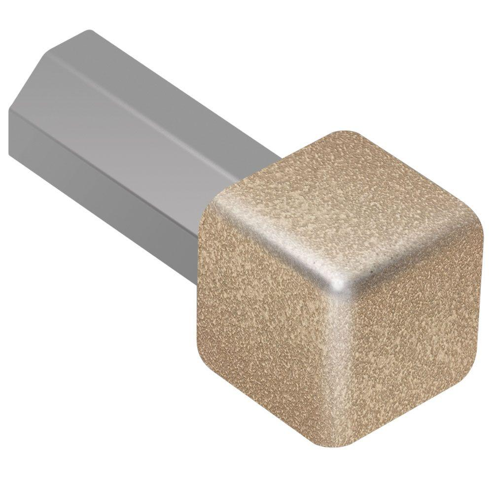 Quadec Beige Textured Color-Coated Aluminum 3/8 in. x 1 in. Metal