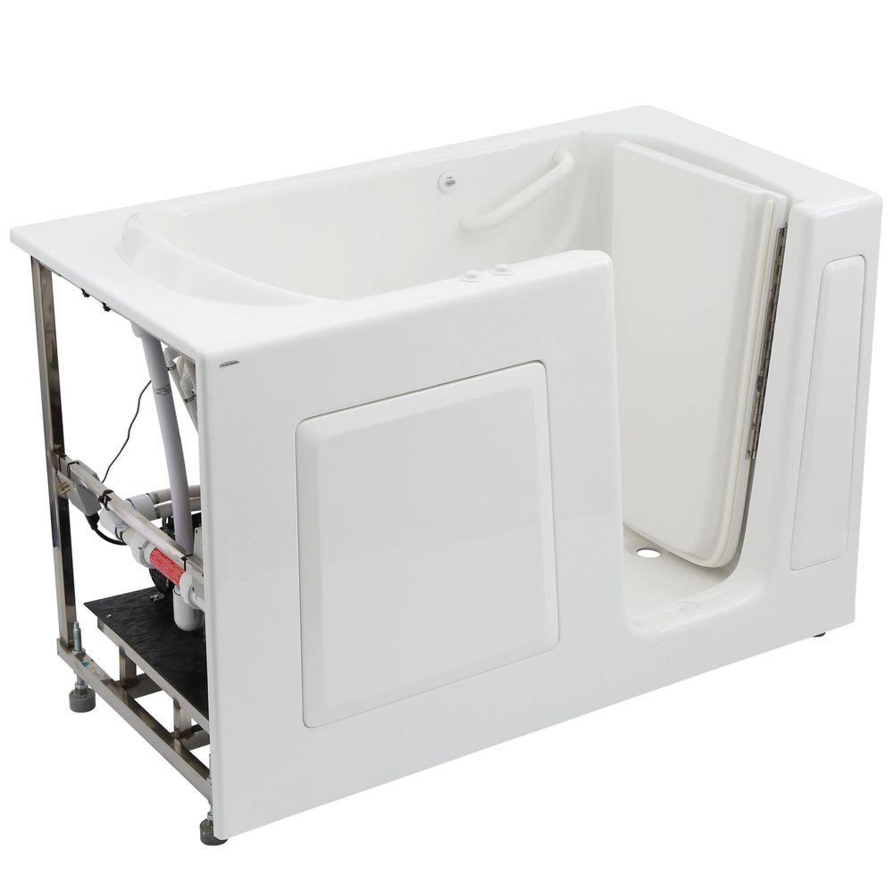 American Standard Gelcoat Standard Series 60 in. x 30 in. Right Hand Walk-In Whirlpool and Air Bath Tub with Quick Drain in White