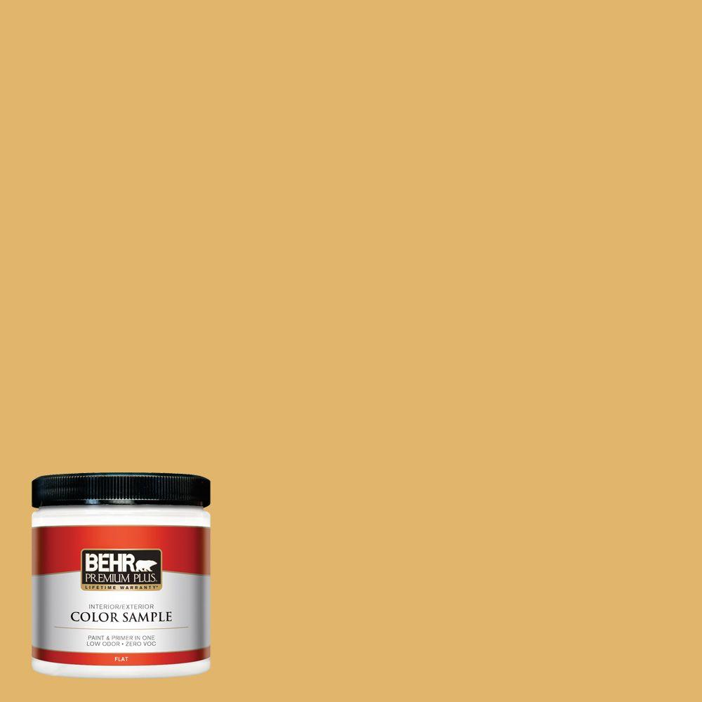 BEHR Premium Plus 8 oz. #M290-5 English Custard Interior/Exterior Paint Sample