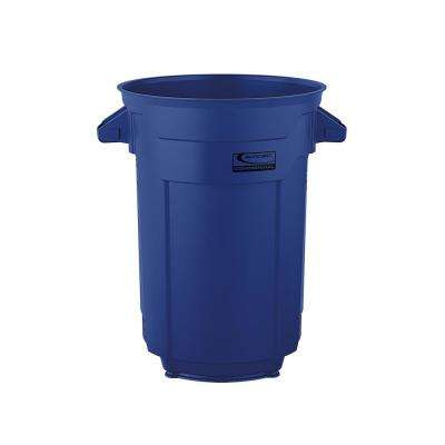 32 Gal. Blue Commercial Trash Can