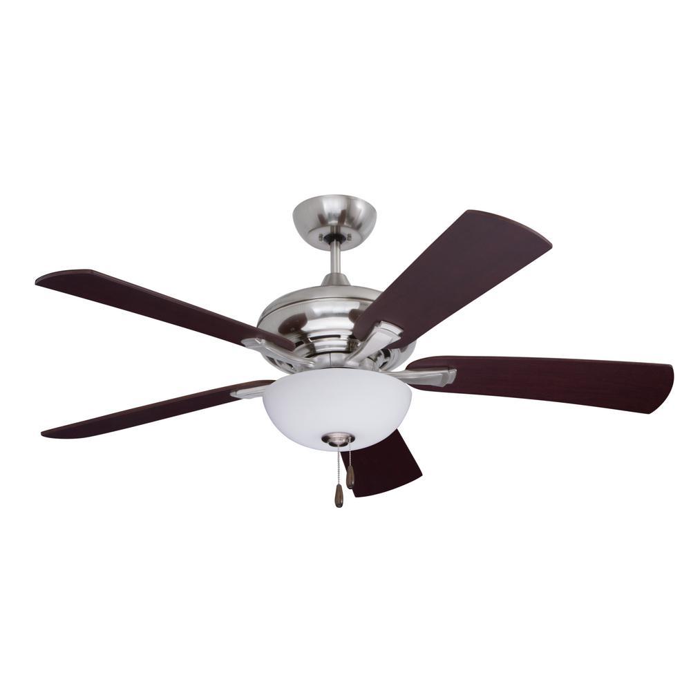 Monterey Lumina 52 in. Brushed Steel Ceiling Fan