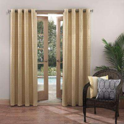 Semi-Opaque Outdoors Nelly Indoor/Outdoor Woven Mosaic Color Window Curtain
