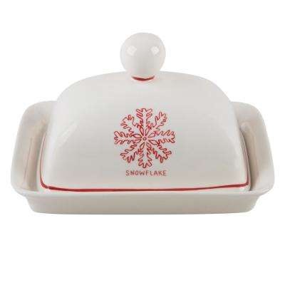 Molly Hatch 6.75 in. L Snowflake Buter Dish