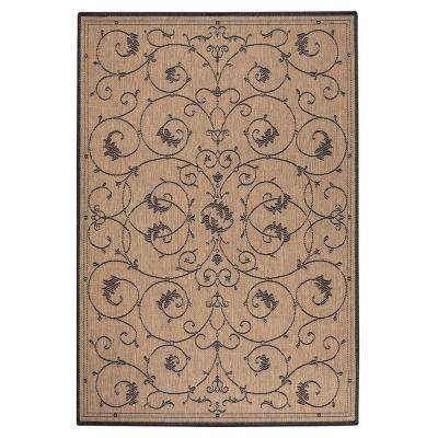 Tendril Cocoa 9 ft. x 9 ft. Round Indoor/Outdoor Area Rug