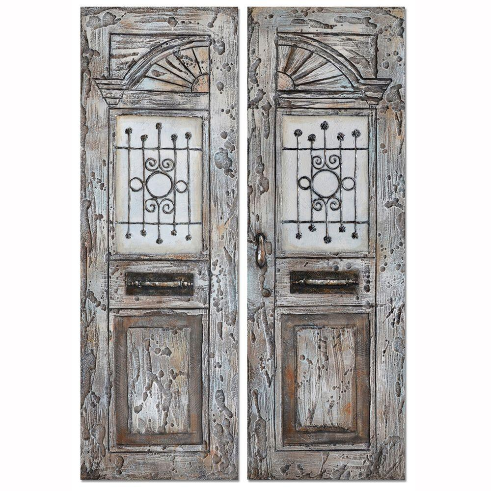 """Yosemite Home Decor 59 in. x 39 in. """"The Entrance"""" Hand Painted Wall Art"""