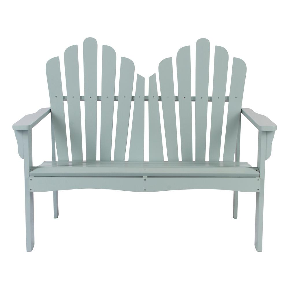 Shine Company Westport Cedar Wood Outdoor Loveseat Bench 43.50 In.   Dutch  Blue