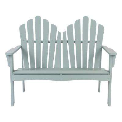 Westport Cedar Wood Outdoor Loveseat Bench 43.50 in. - Dutch Blue