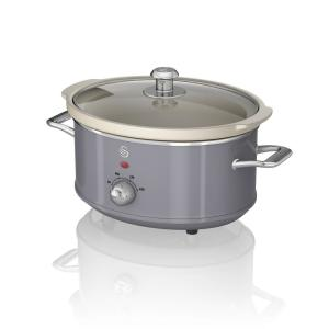 Retro 3.7 Qt. Grey Slow Cooker