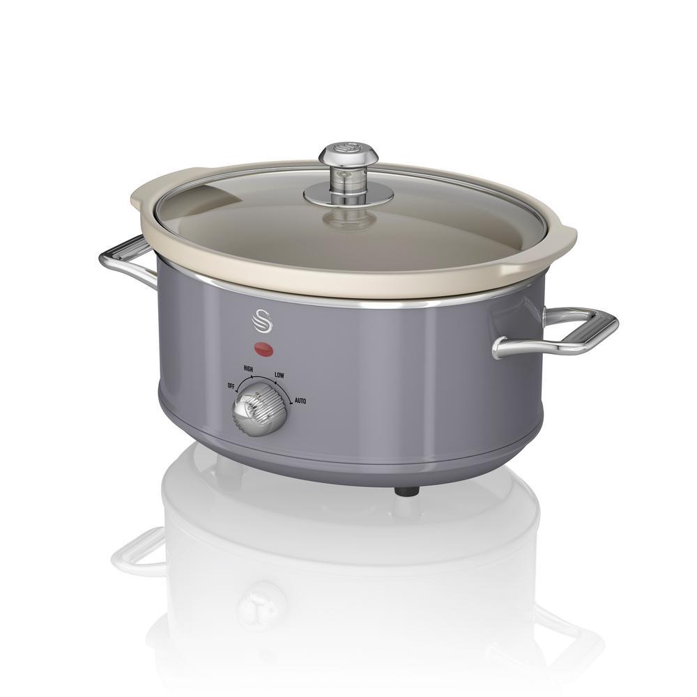 Retro 3.7 Qt. Grey Slow Cooker