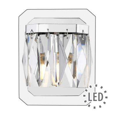 Krysta 1-Light Chrome Bath Light