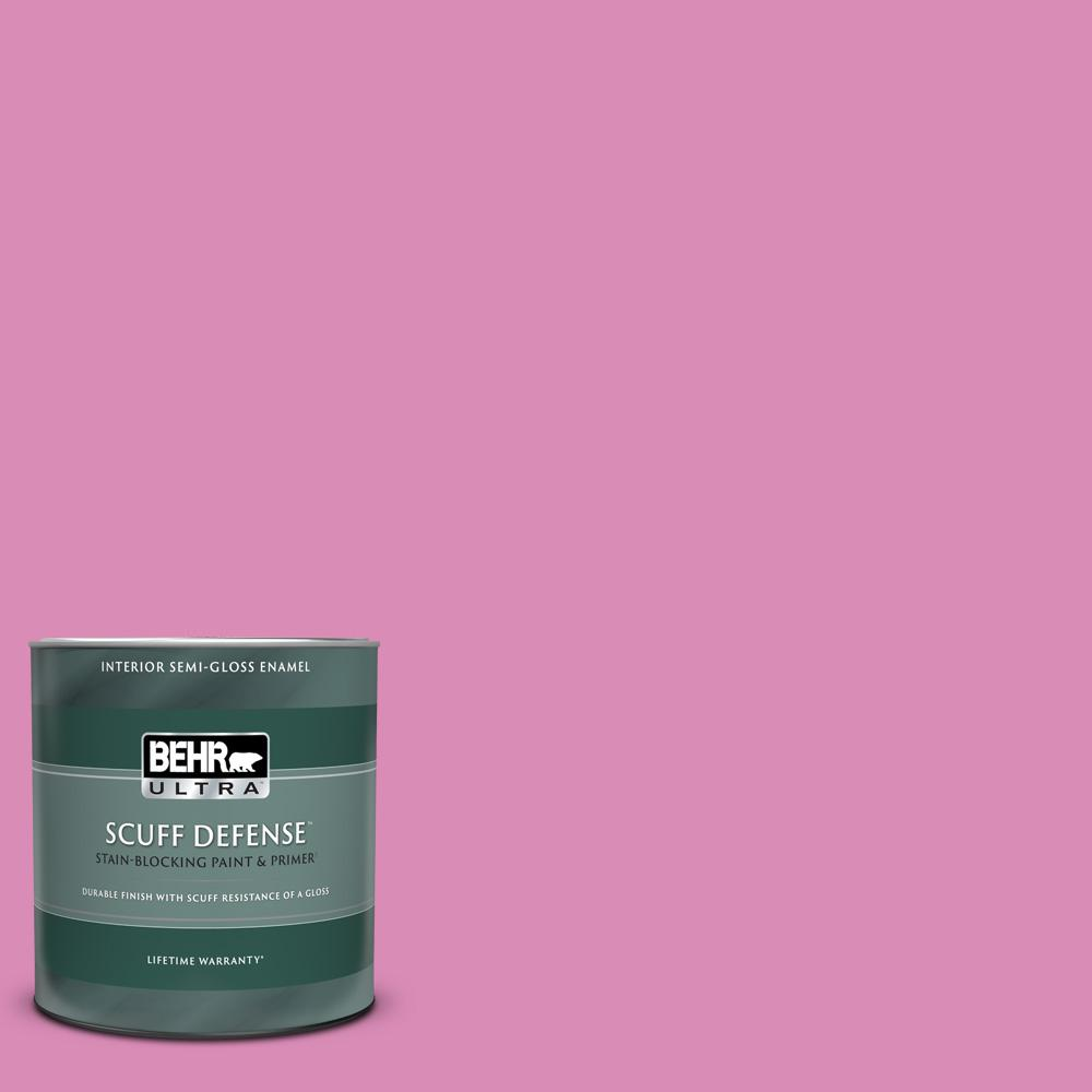 Behr Ultra 1 Qt P120 3 High Maintenance Extra Durable Semi Gloss Enamel Interior Paint And Primer In One 375404 The Home Depot