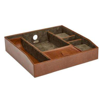 Finley Cognac Faux Leather Jewelry Valet