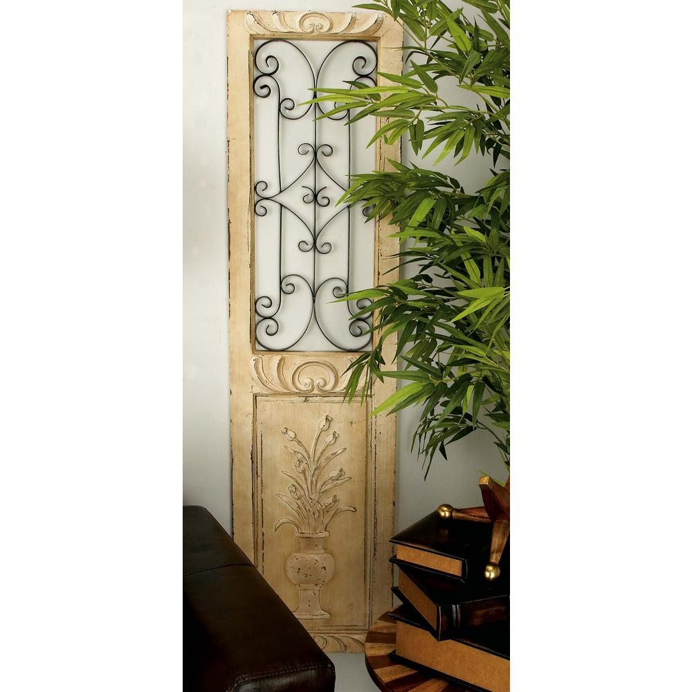 16 in. x 62 in. Ivory Fir Decorative Wall Panel