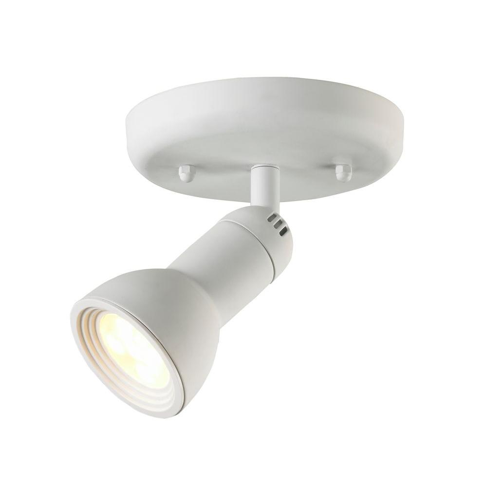 Hampton bay 1 light multi directional led white semi flush mount hampton bay 1 light multi directional led white semi flush mount aloadofball Choice Image