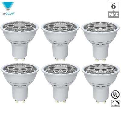 50-Watt Equivalent MR16 Dimmable GU10 Base Daylight LED Light Bulbs (6-Pack)