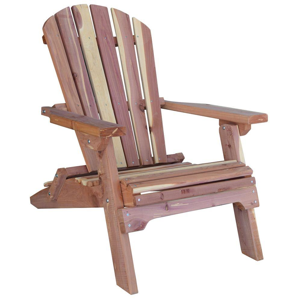 amerihome cedar patio adirondack chair 800890 the home depot. Black Bedroom Furniture Sets. Home Design Ideas