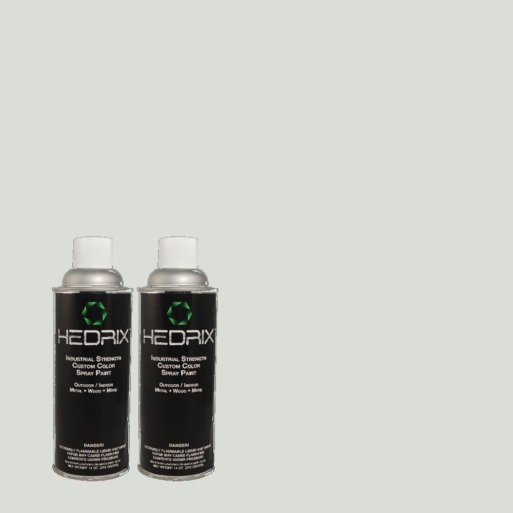 Hedrix 11 oz. Match of PPU12-13 Urban Mist Semi-Gloss Custom Spray Paint (8-Pack)