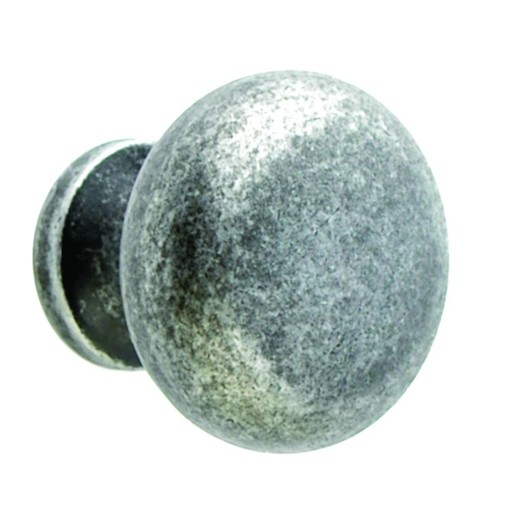 Giagni 1-1/4 In. Tumbled Pewter Round Cabinet Knob-KB-6BR