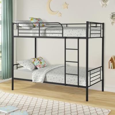 Black Twin Over Twin Metal Bunk Bed