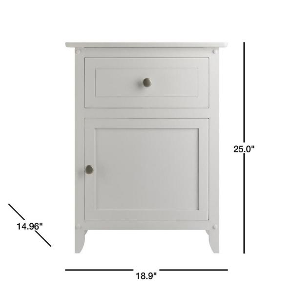 Winsome Accent Table with Drawer White 18.9 inches