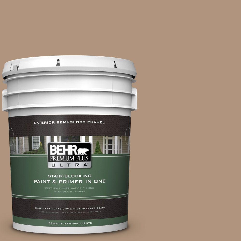 BEHR Premium Plus Ultra Home Decorators Collection 5-gal. #HDC-NT-22 Nomadic Semi-Gloss Enamel Exterior Paint