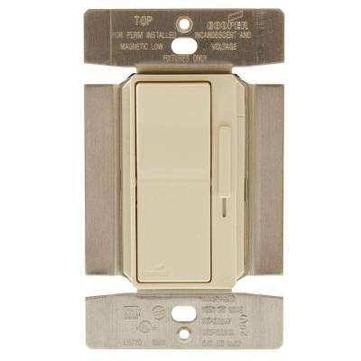 1000-Watt Slide Dimmer Single-Pole 3-Way Decorator Switch with Preset, Almond Finish