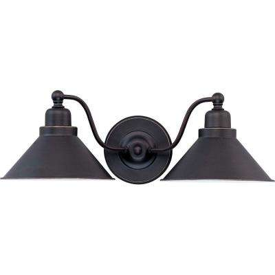 Siwa Concord 2-Light Mission Dust Bronze Sconce