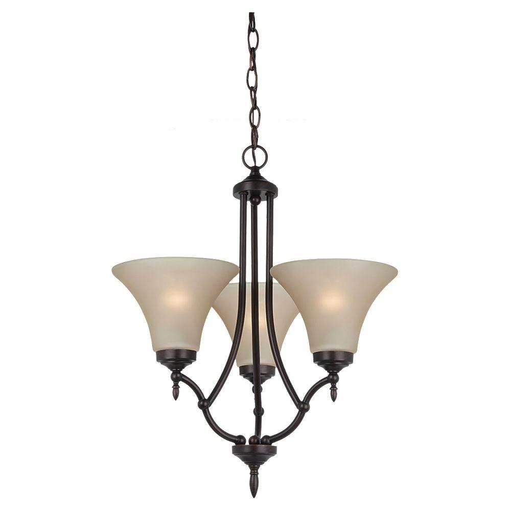 Sea Gull Lighting Montreal 3 Light Burnt Sienna Single Tier Chandelier