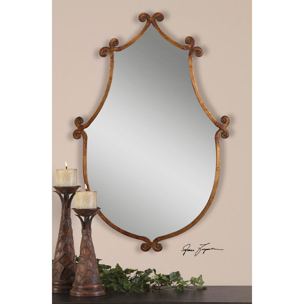 Global Direct 37 in. x 24 in. Gold Metal Framed Mirror