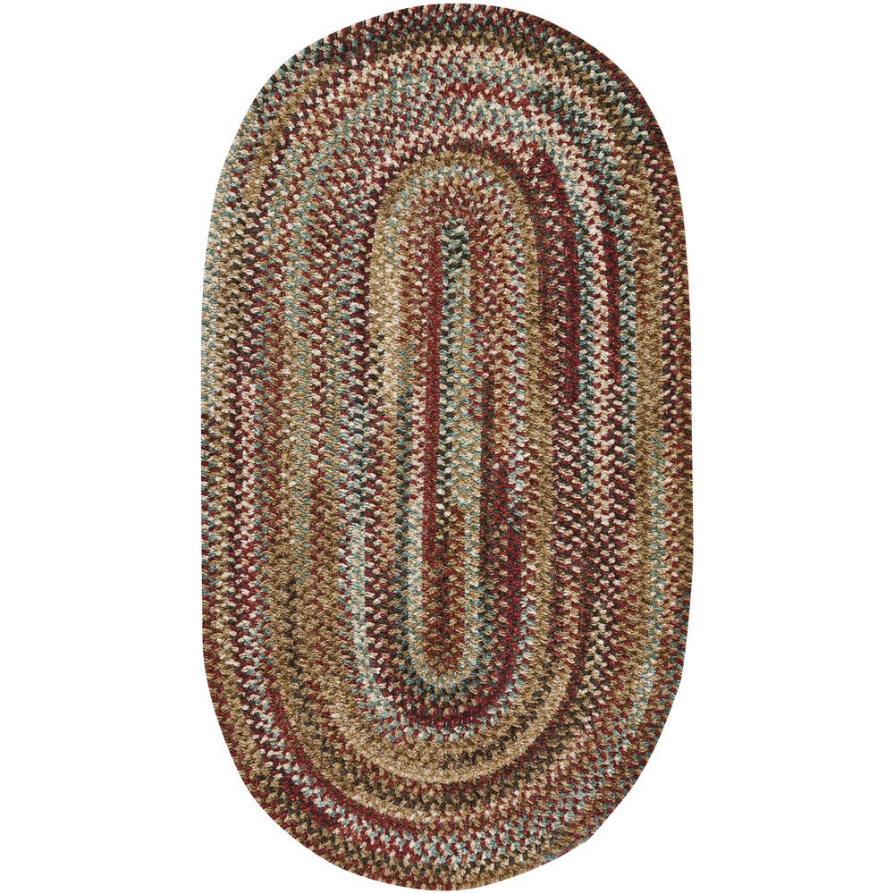 Capel habitat deep red 5 ft x 8 ft oval area rug for Accent rug vs area rug