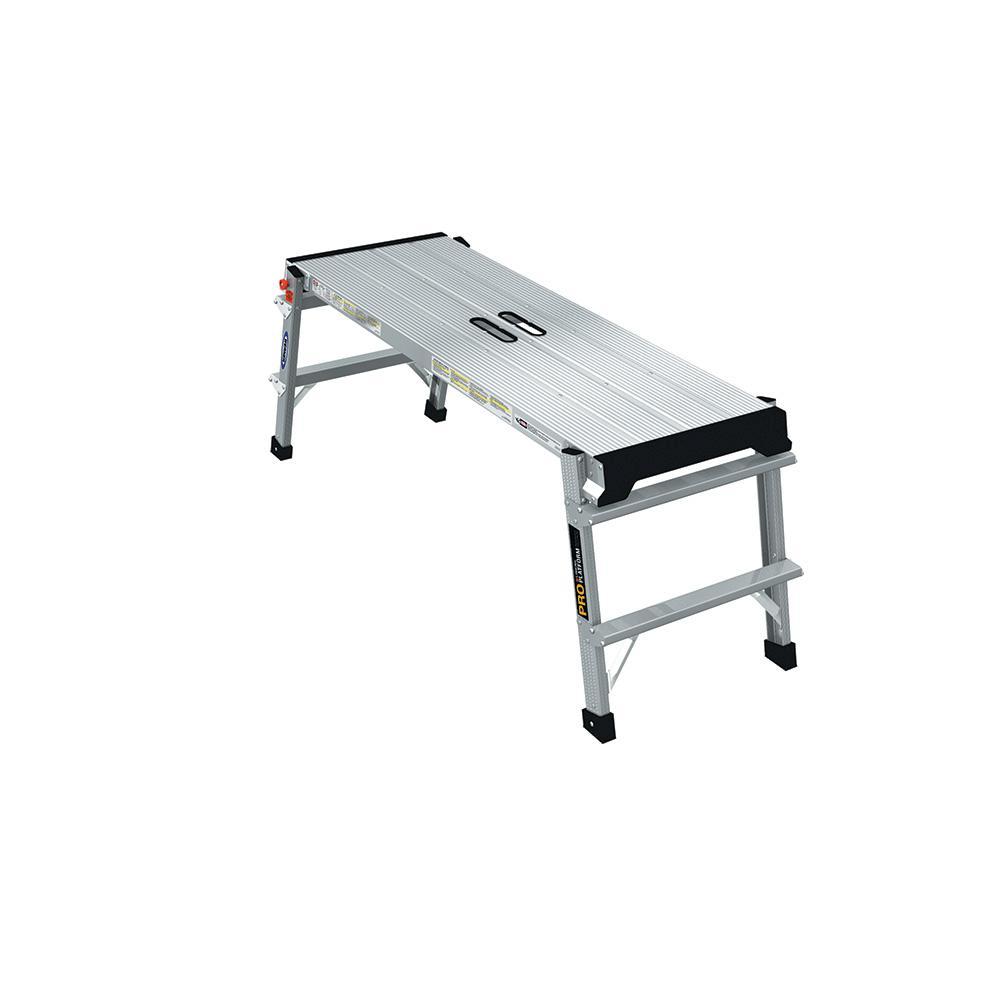 1.67 ft. x 4ft x 1.33 ft. Aluminum PRO Linking Work Platform with 375 lb. Load Capacity