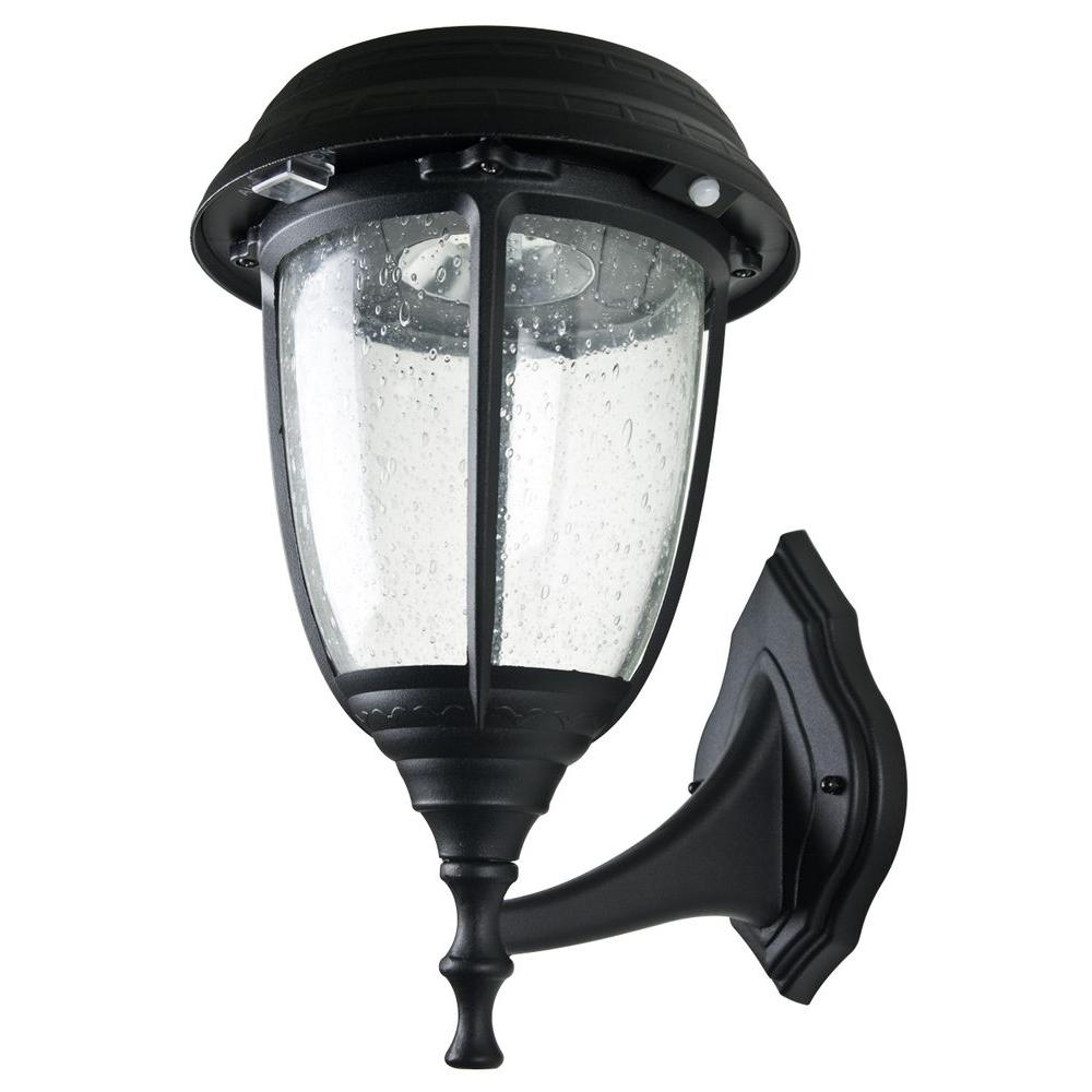 XEPA Stay On Whole Night 300 Lumen Wall Mount Outdoor Black Solar LED Lamp