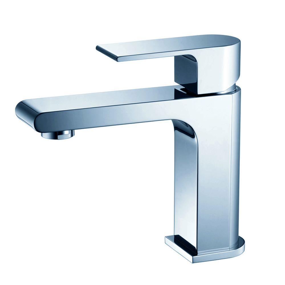 Allaro Single Hole 1-Handle Low-Arc Bathroom Faucet in Chrome