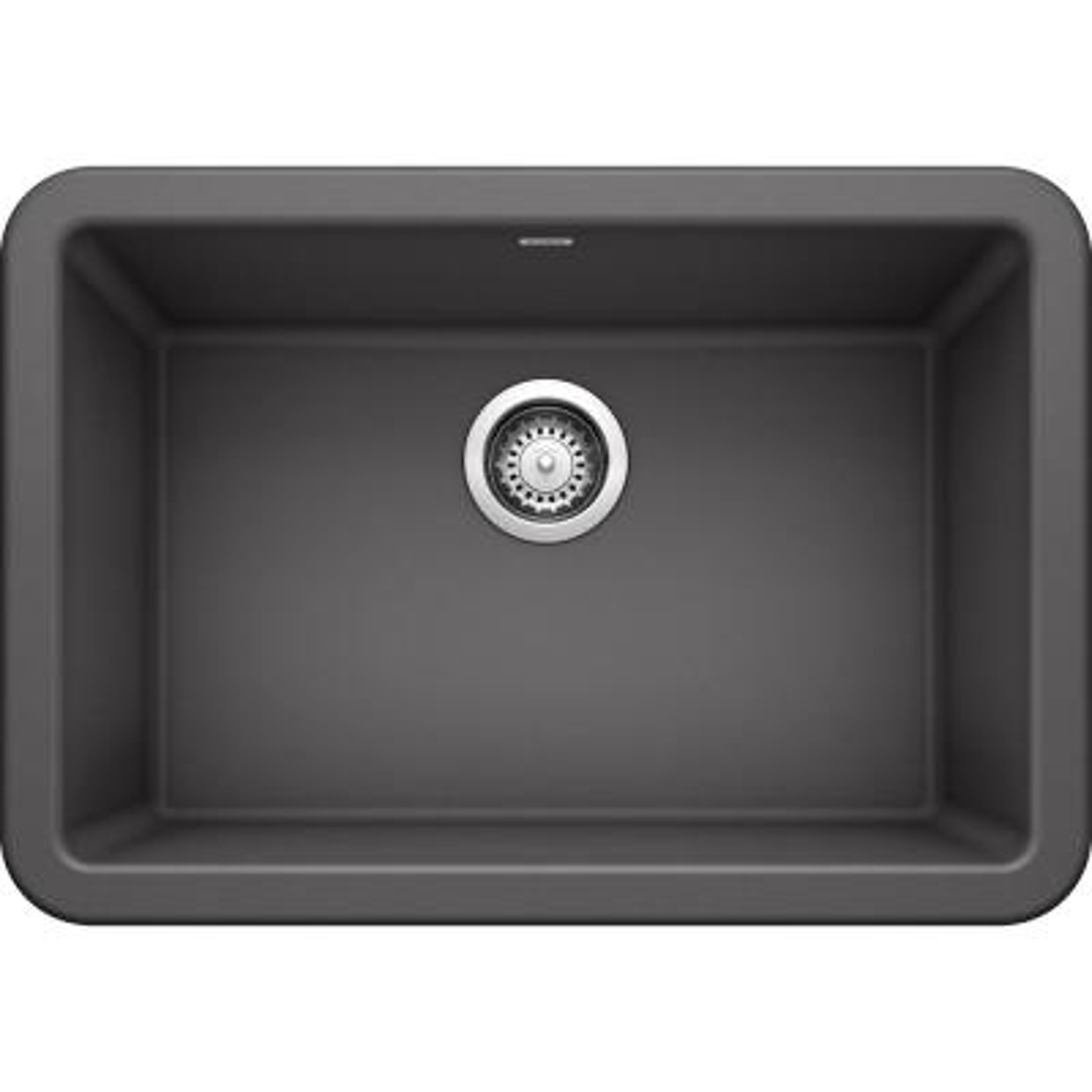 IKON Farmhouse Granite Composite 27 in. Single Bowl Kitchen Sink in Cinder