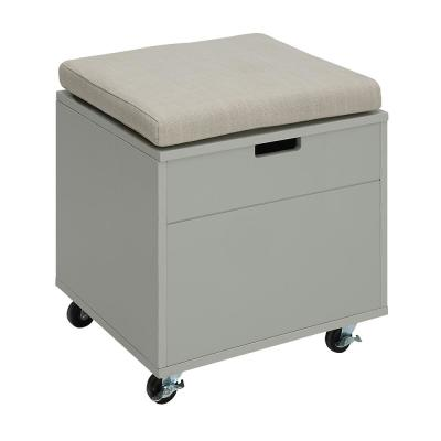 Sadie London Grey Small Office File Bench