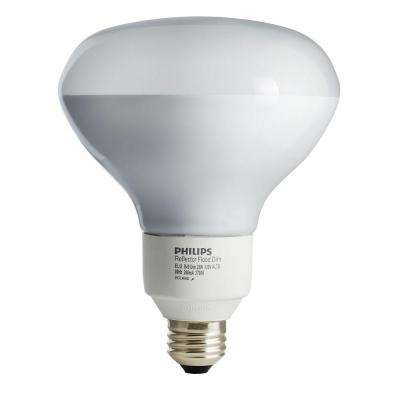 85W Equivalent Soft White (2700K) R40 Dimmable CFL Flood Light Bulb (E*)