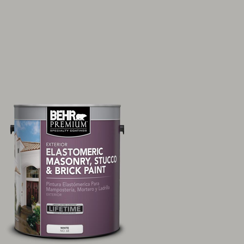 1 gal. #BXC-25 Colonnade Gray Elastomeric Masonry, Stucco and Brick Paint