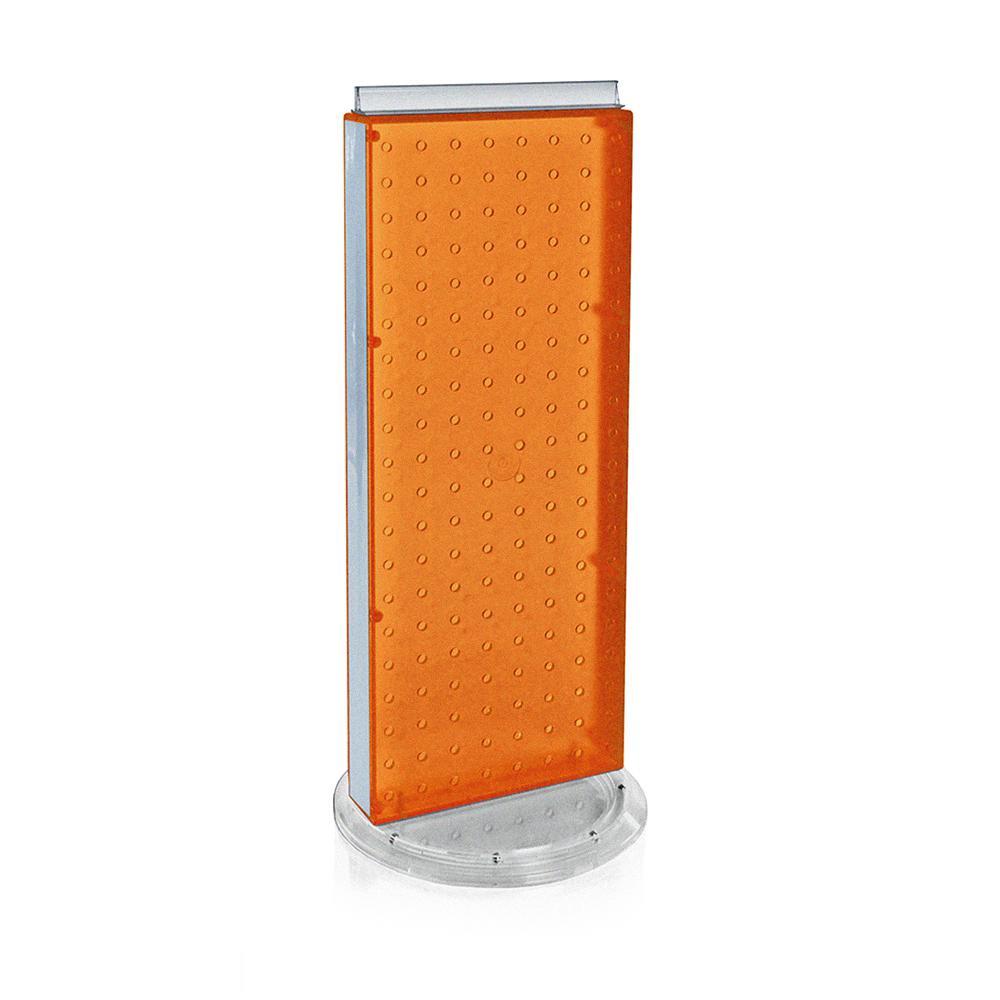 20 in. H x 8 in. W Pegboard Counter Display in Orange Styrene