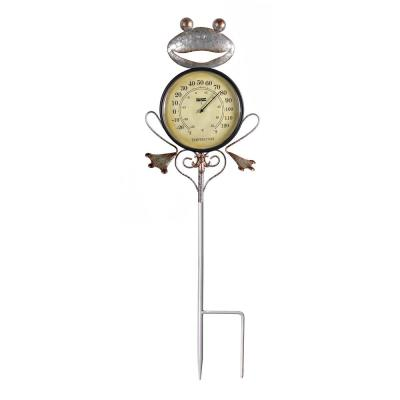 Frog Outdoor Thermometer Garden Stake and Backyard Decor