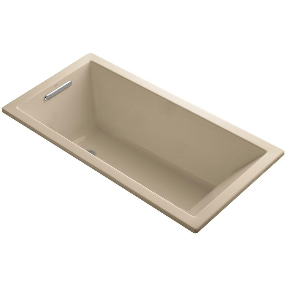 KOHLER Underscore 5 ft. Reversible Drain Soaking Tub in Mexican Sand