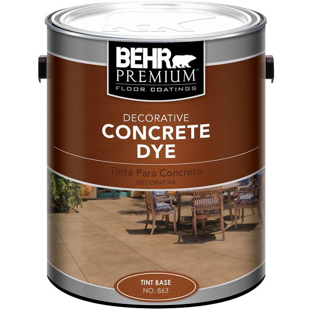 behr 1 gal tint base concrete dye 86301 the home depot. Black Bedroom Furniture Sets. Home Design Ideas