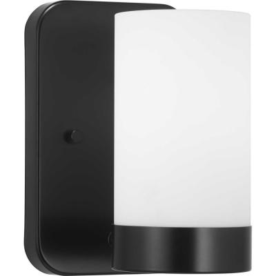 Elevate Collection 1-Light Black Vanity Light