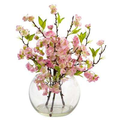 14 in. Cherry Blossom in Large Vase