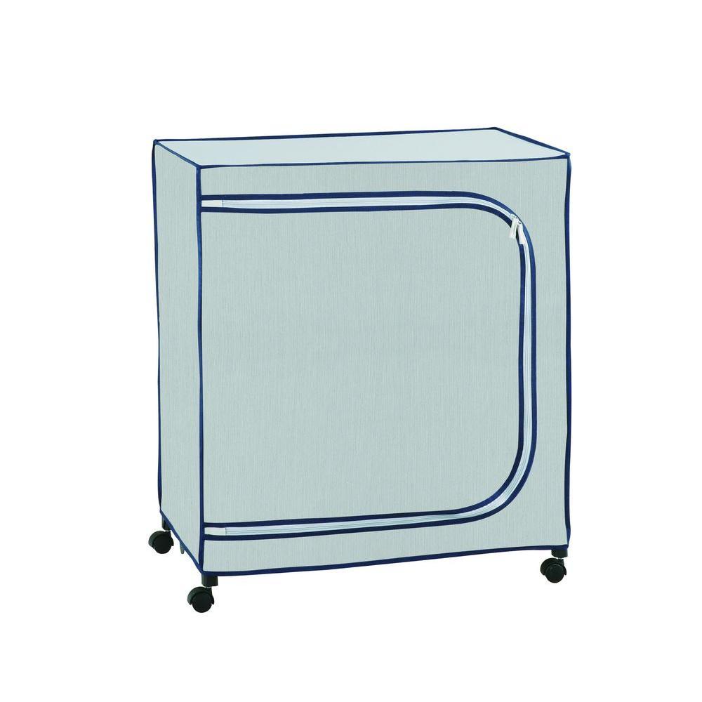 29 in. W x 33.25 in. H Light Gray 3-Shelf Clothes Storage Organizer