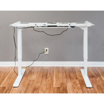 ErgoMax White Electric Height Adjustable Desk Frame w/Dual Motor, Tabletop Not Included, 50 Inch Max Height